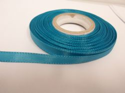 Dark Turquoise Blue Taffeta ribbon, 2 metres, Double sided, 8mm 15mm 25mm 40mm Rolls